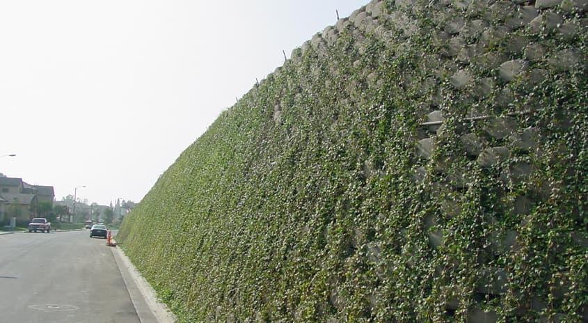 Verdura bloques para muros de contenci n con vegetaci n for Muros verdes arquitectura