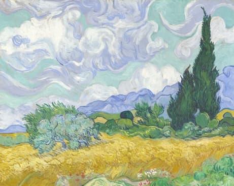 campo_de_trigo_con_cipreses-Vicent_van_Gogh
