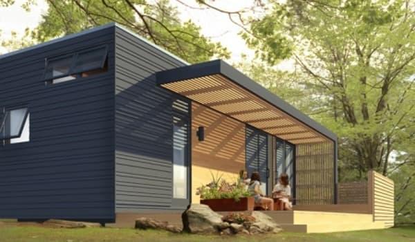 Solo 36 casa prefabricada sostenible de sustain design studio - Mini casas prefabricadas ...