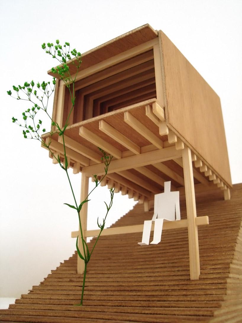 Grupo de refugios japoneses de madera - Arquitectura en madera ...