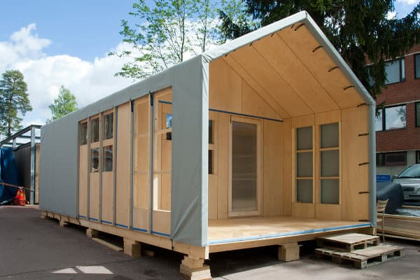 Liina refugio de emergencia de f cil montaje con cintas - Refugios de madera prefabricados ...