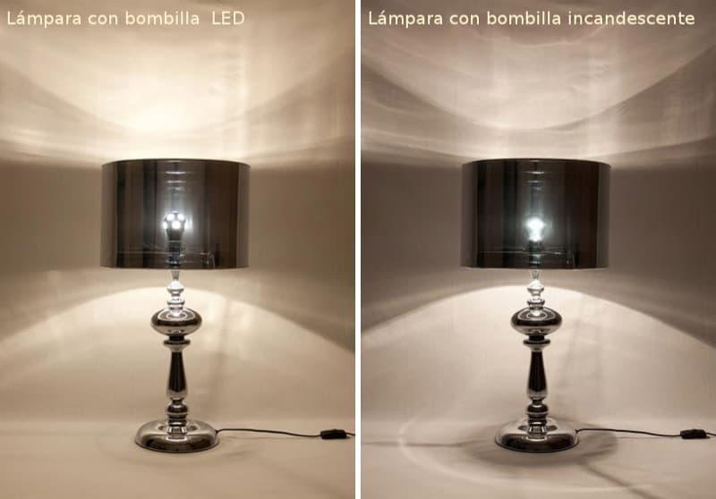 Comparando-lampara-bombilla-LED-Incandescente