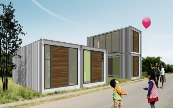 Ex container viviendas con 2 contenedores de carga - Casas prefabricadas de contenedores ...