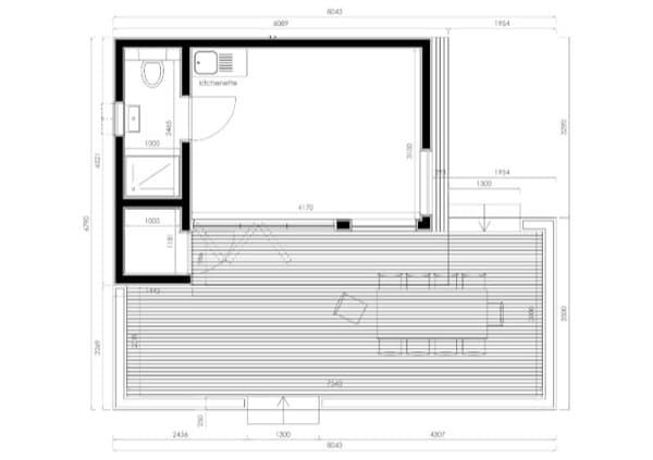 plano de casa para invitados de In.It.Studios en Oxford