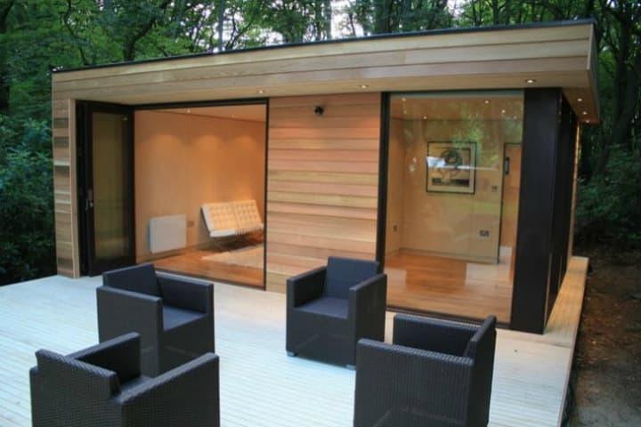 Caseta prefabricada con dormitorio y ba o de in it studios - Casetas prefabricadas jardin ...