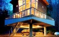 Cabaña Treehouse, con escalera abatible de acceso