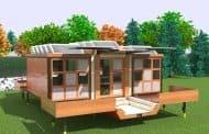 Casa solar móvil y desplegable