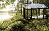 Cobertizo e invernadero para el jardín