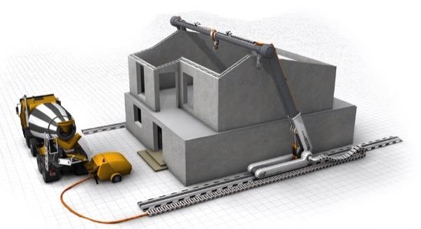 Contour crafting m quina para 39 imprimir 39 la construcci n for Crear casas 3d