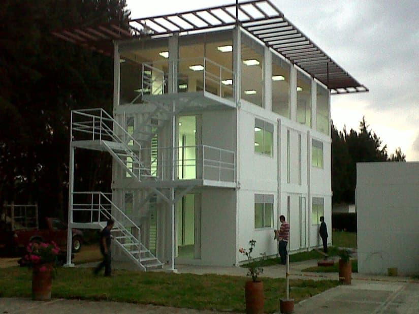 Edificio de aulas construido con 6 contenedores iso 40 pies - Casa con contenedores maritimos ...