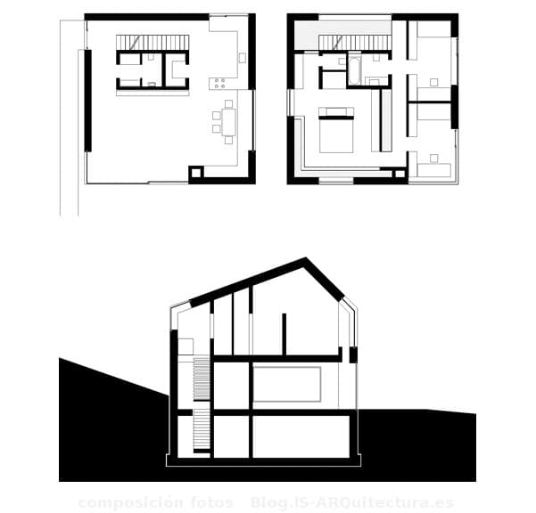 planos-planta-y-seccion-casa-11x11