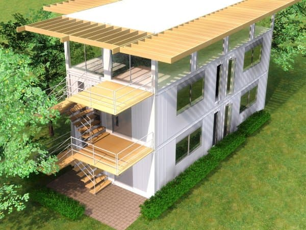 Edificio de aulas construido con 6 contenedores iso 40 pies - Casas hechas de contenedores ...