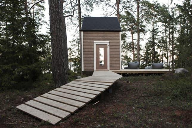 acceso-cabaña-madera-NIDO-de-9m2