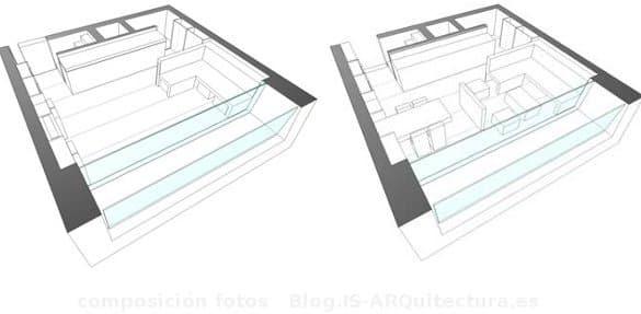 detalle muebles salon de la casa Boxnbox