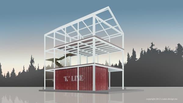 estructura-prefabricada-casa-Ecopak-con-contenedor