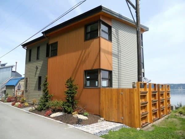 Casas prefabricada en kit ubicada en camano island for Kit casas prefabricadas