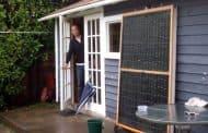 Calentador solar con latas de refresco