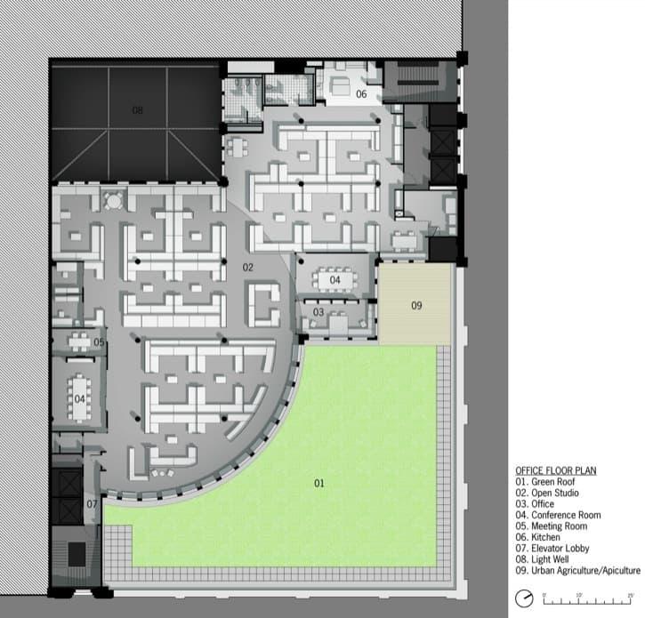 plano de planta reforma-oficinas-Nueva_York-con-LEED-Platino