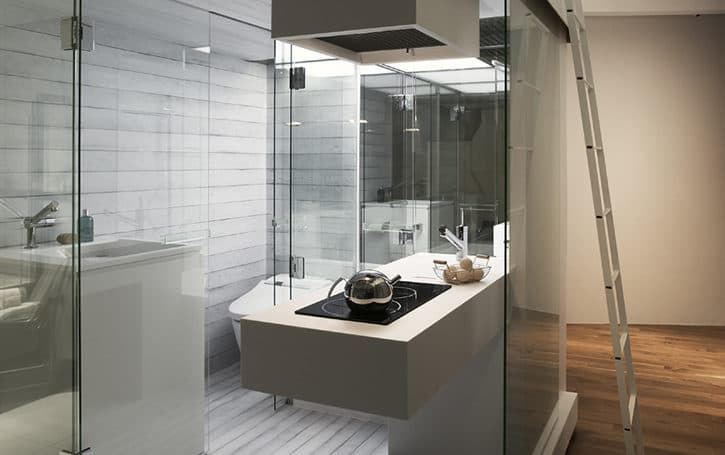 Subaco m dulo compacto con cocina ba o loft en 4m2 for Small bathroom design 2m x 2m