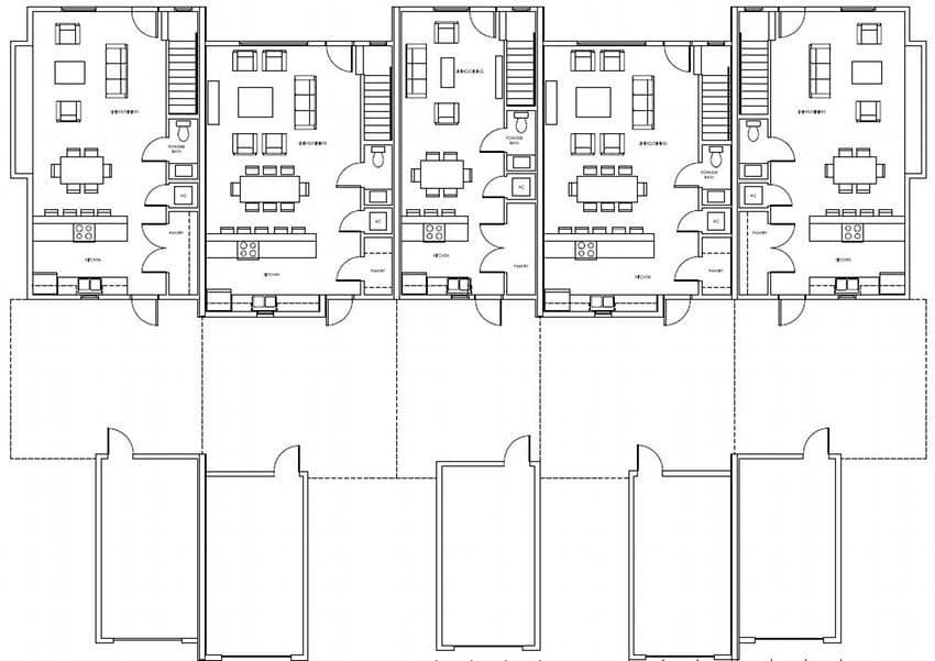 plano-planta-baja-casas-adosadas-energia-cero-Dunedin