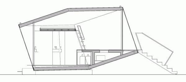 plano-seccion-Hypercubus-habitacion-hotel-prefabricada