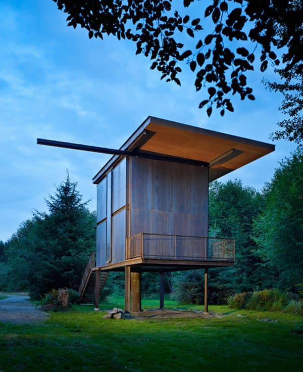 Sol Duc Cabin: refugio de acero y madera