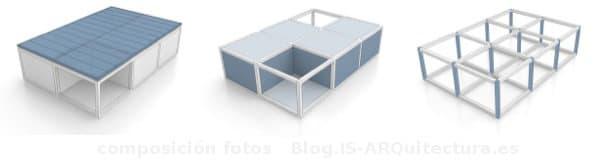 esquema-sistema-modular-casa prefabricada Ecolar