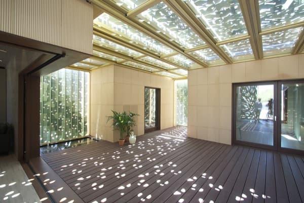 Patio casa de andaluc a team en el solar decathlon 2012 for Casas con patio interior
