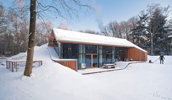 exterior-casa-Dutch_Mountain, fachada sur