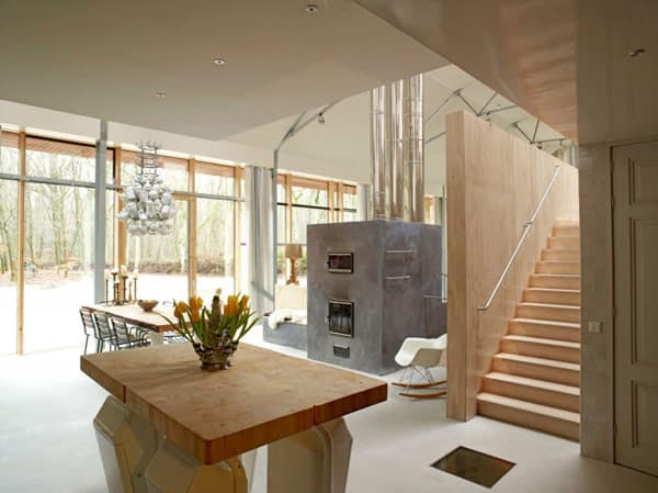 interior-casa-Dutch_Mountain, vista desde la cocina