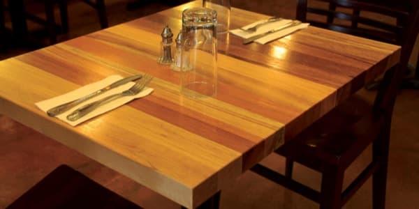 Tableros de madera recuperada para mesas y encimeras for Tableros para mesas