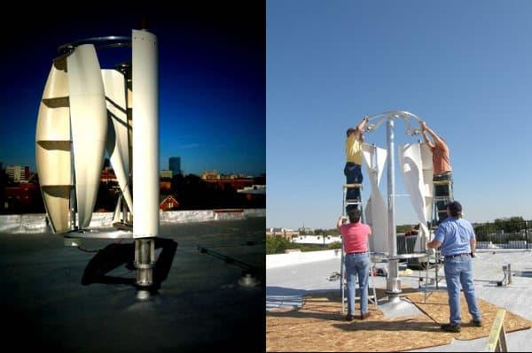 EOW2-aerogenerador-urbano con dos molinos de viento