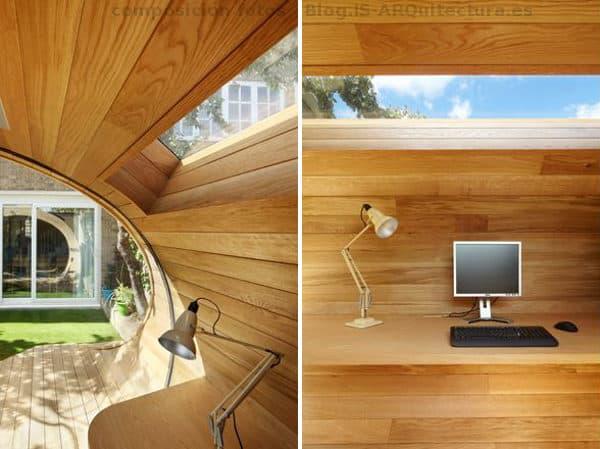 Shoffice moderna caseta de madera para oficina en el jard n - Garajes de madera baratos ...