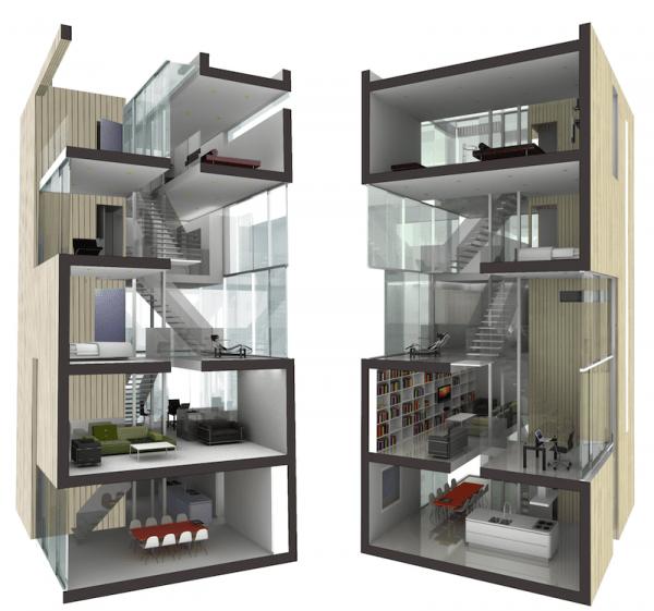Tower-House-casas-prefabricadas-render secciones