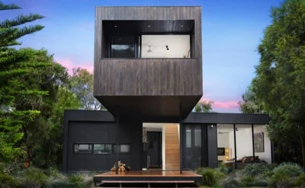 Casa prefabricada en point leo por la compa a modscape - Modulos de casas ...