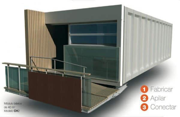 Modulos emii prefabricados de hormig n de la firma compact habit - Casa de modulos prefabricados ...