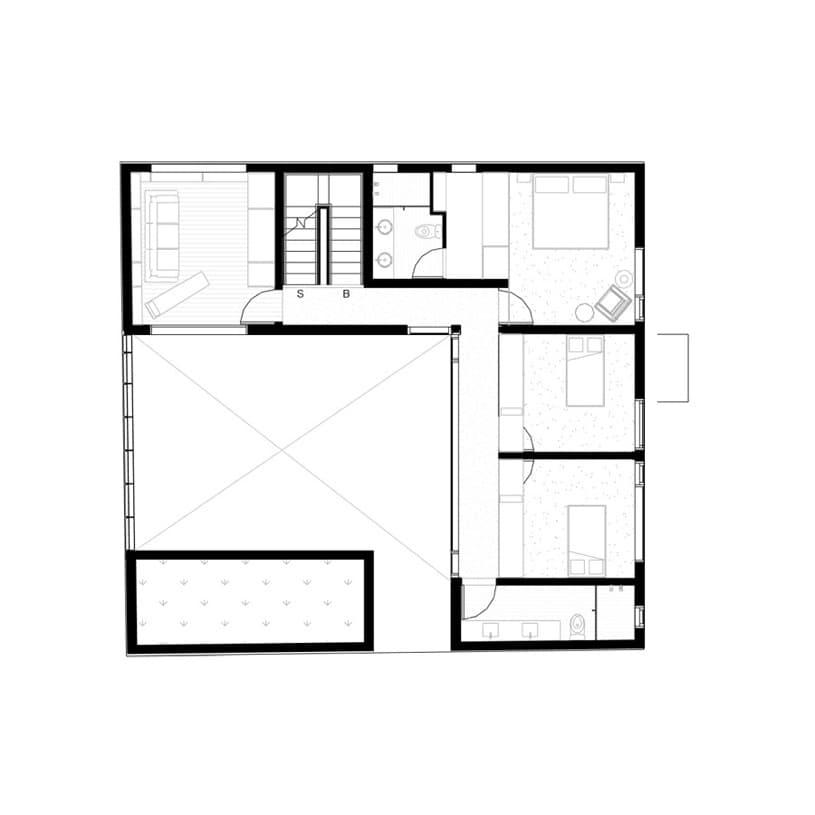 Cormanca casa con jard n vertical en su patio ciudad de - Planos de casas con patio interior ...