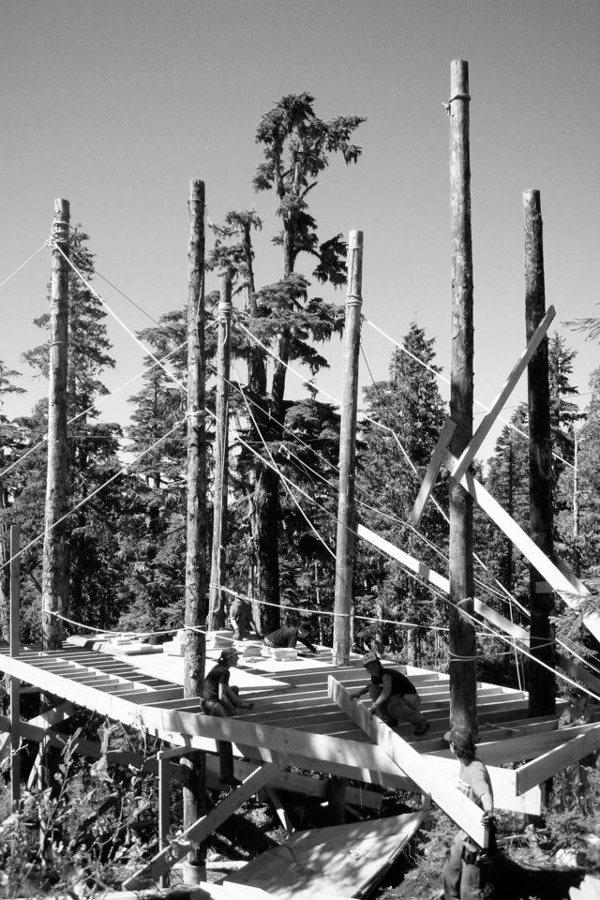Cabaña-Alpina-madera-estructura