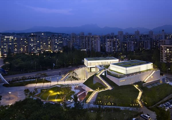 Museo-Buk-Seul-vista-aerea-nocturna