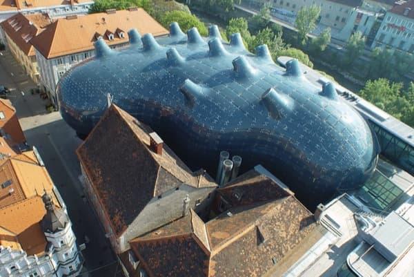 Museo-Kunsthaus-Graz-vista-aerea