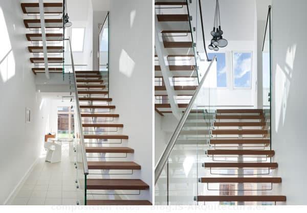 escaleras-CarbonLight Homes-casas-sostenibles