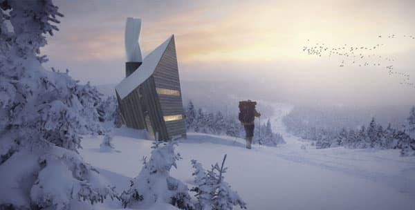 paisaje-nevado-con-refugio-ecologico-HUBA