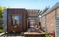 Casa con patios convertibles