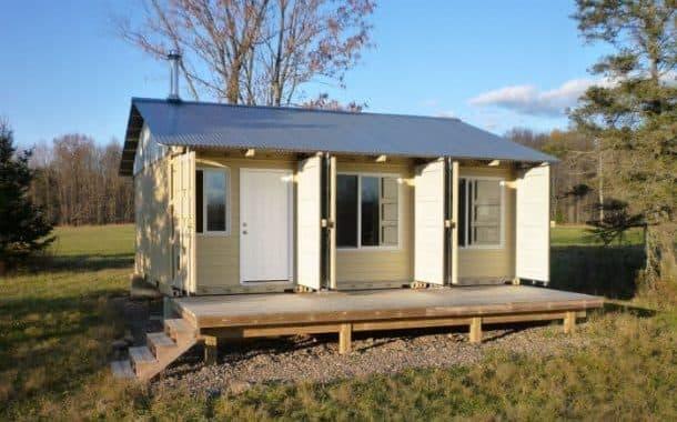 Tin Can: construir una casa utilizando 3 contenedores