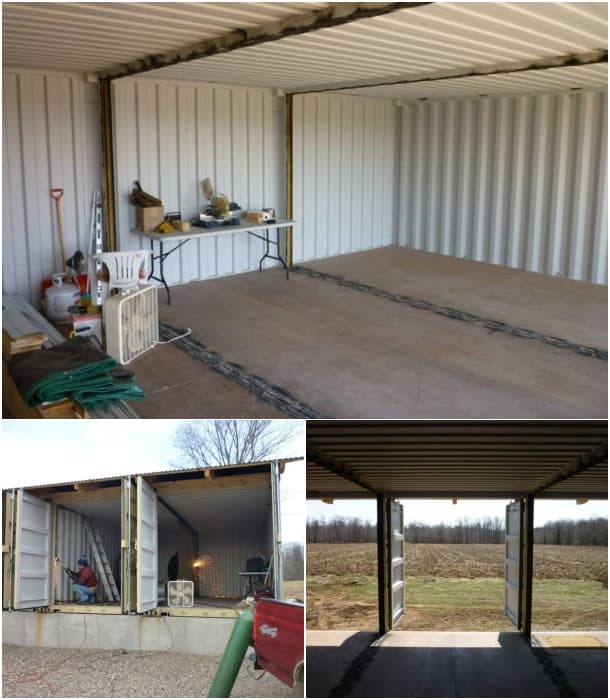 Cabaña Tin_CAN corte paredes contenedores de carga
