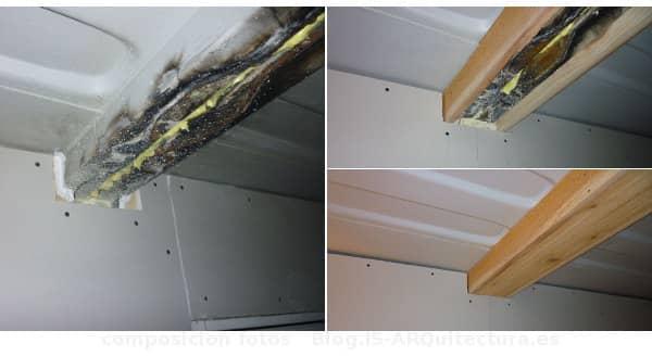 Cabaña Tin_CAN detalles viga metalica refuerzo forrada madera