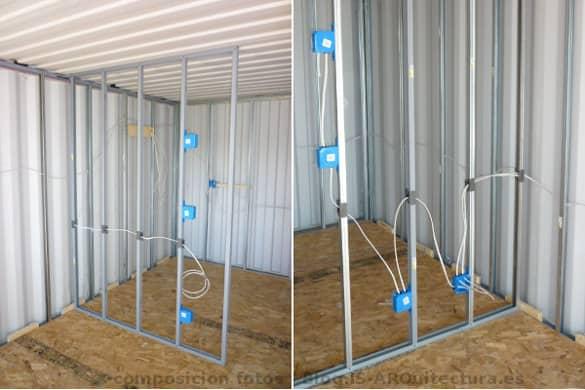 Construir una casa con contenedores tutorial detallado - Instalacion electrica superficie ...