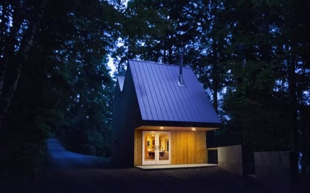 Polygon refugio urbano de madera
