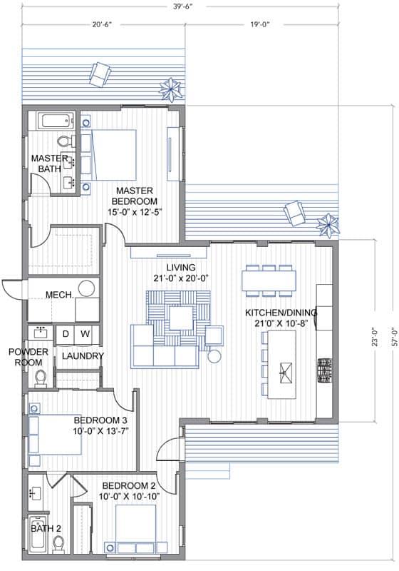 Breeze Aire: casa prefabricada inspirada en las de J. Eichler