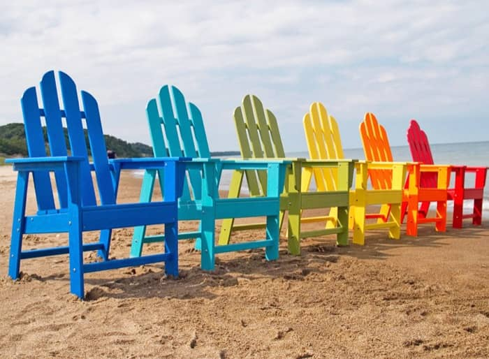 Sillas para exteriores de material ecol gico polywood for Silla playa decathlon